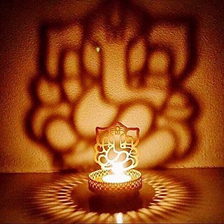 Crazy Sutra Brass Shadow Ganesh Gold