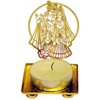 Crazy Sutra Brass Shadow Radha Krishna Gold