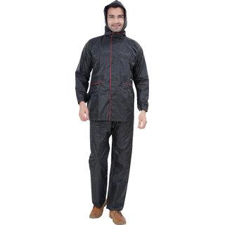 Abc Garments Black Raincoat For Mens