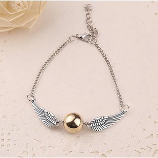Elprine Alloy Sliver Plated Vintage Wings Bracelet For Women