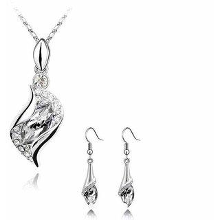 Elprine Elegant Luxury Design Crystal Drop Jewellery Set For Women