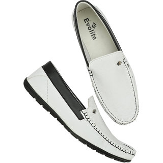 Evolite White Stylish Loafers for Men and Boys