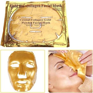 24K Gold Bio-Collagen Facial Mask Anti Aging Hydrating Whitening Moisturizing Face Mask - 1 pc