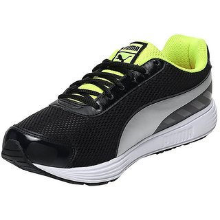 Puma Ridge Black and Green Running Shoes