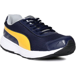 Puma Ridge Blue and Yellow running shoes