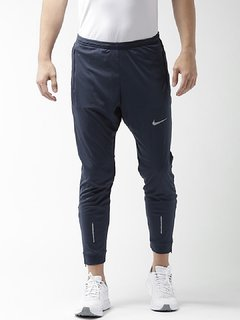 Nike Navy Polyester Lycra Running Trackpant For Men