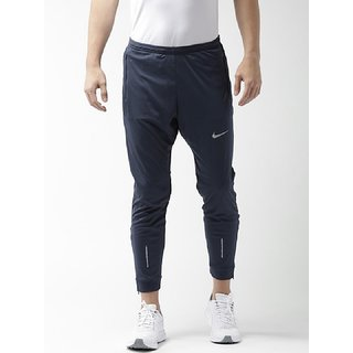 Nike Men Navy Polyester Running Trackpant