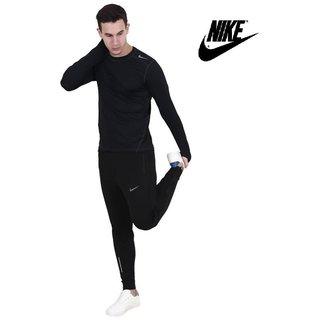Nike Men's Navy Polyester  Track pant