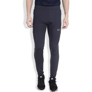Nike Black Polyester Lycra Track pant