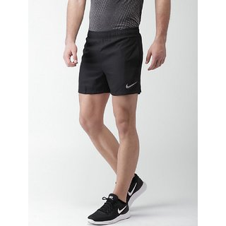 Nike Black Lycra Running Shorts For Men