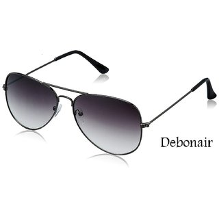 Debonair Grey UV Protected Unisex Aviator Sunglasses