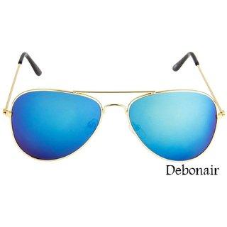 Debonair Blue Mercury Aviator Unisex Sunglass
