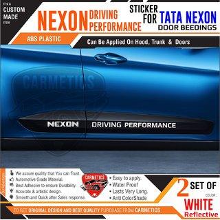 Nexon Driving Performance - Stickers for Tata Nexon - White - CarMetics
