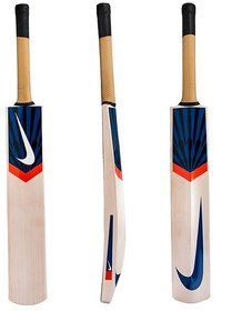 SAM NK Blue Popular Willow Tennis Cricket Bat With Cover (Pack Of 1 )
