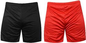 Shorts pack of 2 Red and Black Sports shorts ,Gym Shorts,shorts Combo