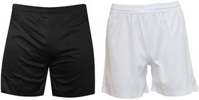 Combo Sports Shorts Pack 2 Black and White Sports Shorts and Gym Shorts
