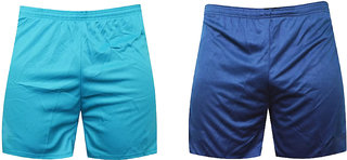 Pack 2 Blue And Sky Sports Shorts ,Gym Shorts