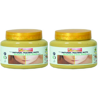 PURE NATURAL MULTANI MITTI ALOW VERRA MASK PACK OF 2