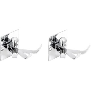 Stainless Steel Coat Hook 3x1 (Square) - Set of 2