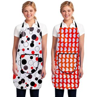 Two Kitchen Apron Latest Desighn With Front Pocket