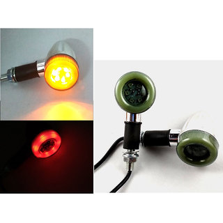 Universal Bike Turn Signal Light Dual Color LED Indicators 2 Pcs