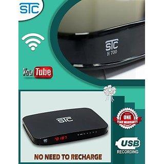MPEG4 Full HD STC set top Box+Wifi Adapter+HDMI Port (H-700)Black
