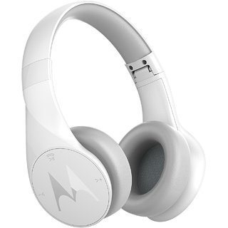 Motorola Pulse Escape Bluetooth Headset with Mic (White Over the Ear)