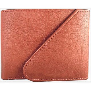 Friends & Company Tan Casual Pure Leather Tri-Fold Wallet For Men