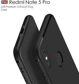 for Redmi Note 5 Pro Rubberised Slim Soft Silicone Matte Back Cover Case