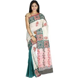 Green Partly Saree Fashion Kiosks saree with blouse