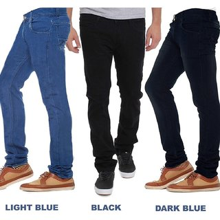 Stylox Men Mid Rise Stylish Casual Wear Jeans - Pack Of 3