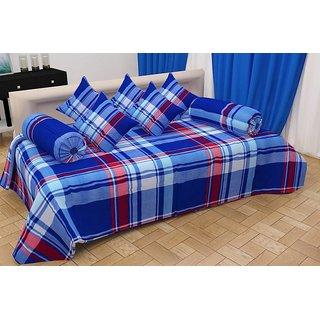 Home Berry Ultra Soft Stripes Diwan set ( 8 Piece Set) DWN-SS-05