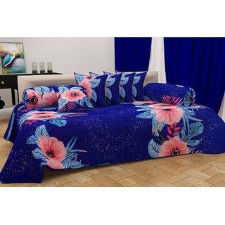 Home Berry Ultra Soft Floral Diwan set ( 8 Piece Set) DWN-SS-01