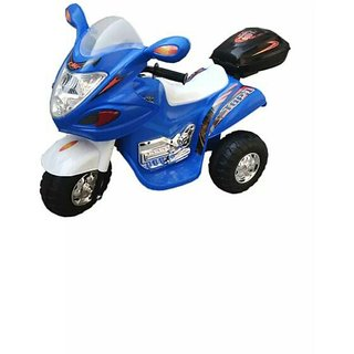Oh Baby, Baby Battery Operated Bike blue Color With Musical Sound And Back Basket For Your Kids SE-BOB-01