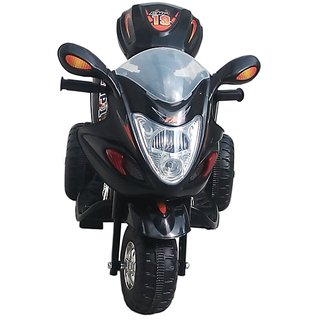 Oh Baby, Baby Battery Operated Bike BLACK Color With Musical Sound And Back Basket For Your Kids SE-BOB-03