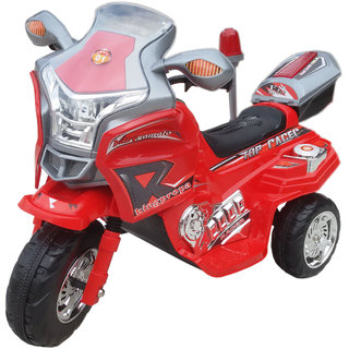 Oh Baby, Baby Battery Operated  Bike RED Color With Musical Sound And Back Basket For Your Kids SE-BOB-07