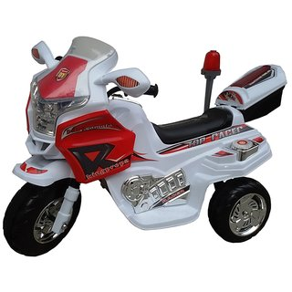 Oh Baby, Baby Battery Operated Bike White Color With Musical Sound And Back Basket For Your Kids SE-BOB-08