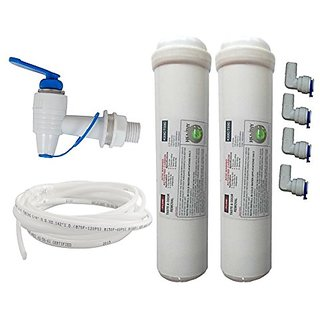 Water Purifier Heathy 2 Carbon+ 4 Connector + R.o Pipe Water Tap Used In All Type Of R.o Water Purifier