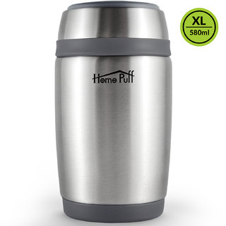 HomePuff Double Wall Vacuum Insulated- Stainless Steel Food Jar (580 ML)