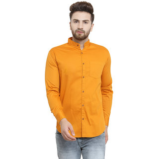 33a9d29cd3e Buy Pacman Rust Orange Slim Fit Cotton Mens Formal Shirt SHFS0081 ...
