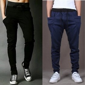 Pack of 2 Navy & Black Trackpants by Exasize