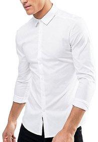 Royal Fashion Solid White Shirt For Men