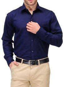 Royal Fashion Solid Navy Blue Shirt For Men