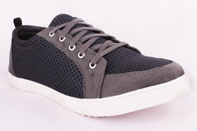 29K Grey Lace-up Casual Shoes For Men