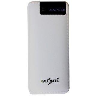 Callmate RCM6 Power Bank 15000 mAh 3 USB Port and Digital Display White