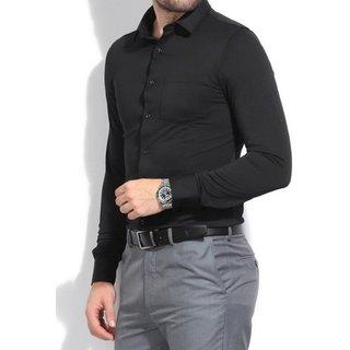 Royal Fashion Solid Black Shirt For Men