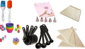 Combo of Silicone Spatulla,Brush,Icing Bag,Nozzle,Measurin Cup,Spoon,Scrapper,Triangle Muffin