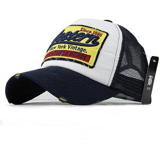 Summer Baseball Cap Embroidery Mesh Cap Hats For Men Women - West Navy Blue 55be30f00
