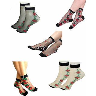 da5c065e6 Buy Women summer cool latest design socks(Pack of 4) Online @ ₹229 from  ShopClues