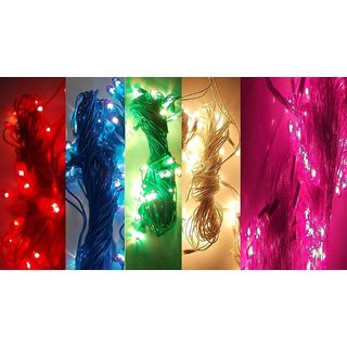 SILVOSWAN Best Rice Lights for Diwali Decoration Multicolor 5 Mtr (Set of 5)